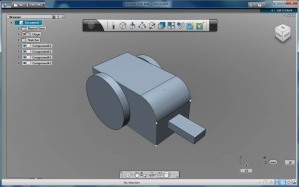 Grensesnittet til Autodesk 123D Beta