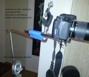 Steadycam laget av diverse fra roteskuffen