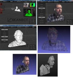 Scanect test med Kinect for Win