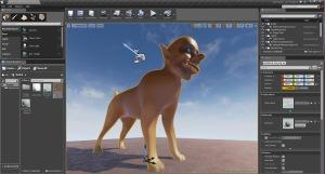 Bildet viser Unreal Engine med hodehund fra Juusolas utprøvinger.