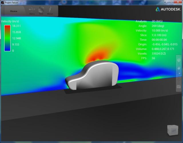 Testing med programmet Project Falcon fra Autodesk